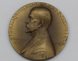 Unikátní aukce medaile Josefa Šejnosty