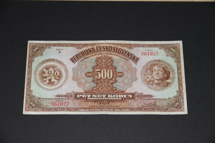 500 korun 1923 hnědý legionář, rarita