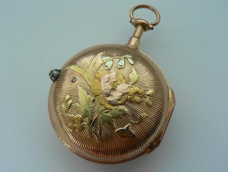 Zlaté rokokové špindlovky, 1750, 18 karátů
