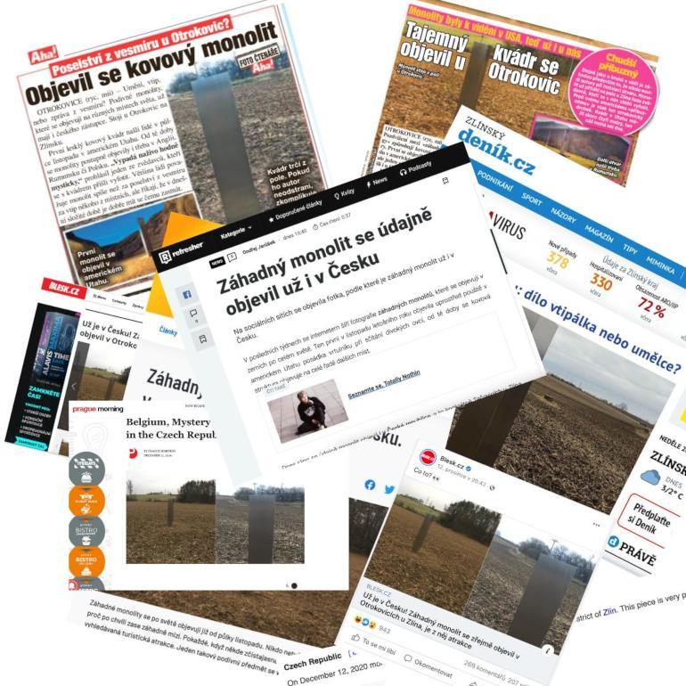 Tečovický monolit v médiích