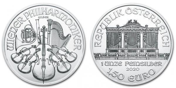 Stříbro 1 000 x - Rakousko - 1,5 € 2021. Wiener Philharmoniker